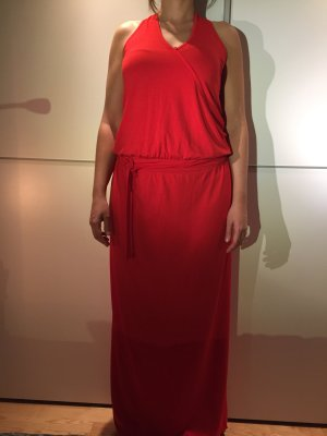 Expresso Maxi-jurk rood Viscose