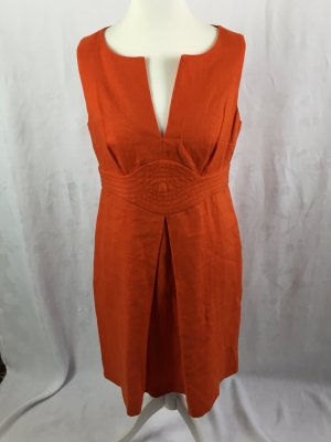 Rotes Leinenkleid von Banana Republic in Gr. 44