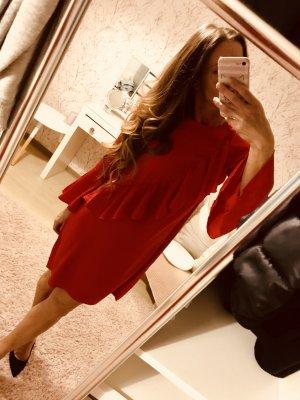 Rotes Lingerie Satin Seide Kleid neu mit Etikett