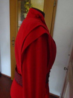 Gabardina tipo vestido rojo