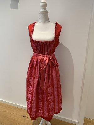 Melega Peplum jurk donkerrood-framboosrood