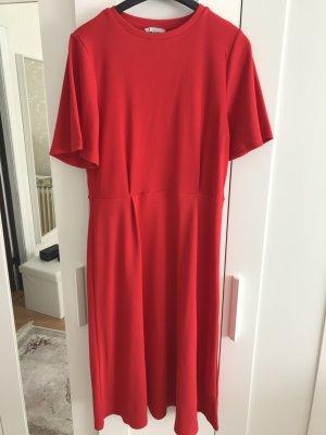 H&M Midi Dress red