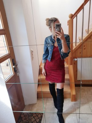 Rotes Midikleid mit Muster Trend Blogger Musthave