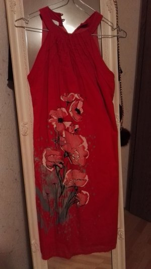 Rotes Mohnblumen Kleid