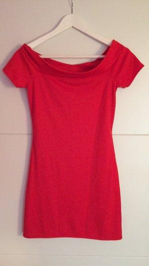 Rotes Off Shoulder Blogger Kleid NEU