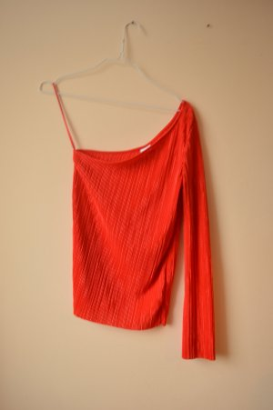 Gina Tricot Eénschoudertop rood Polyester