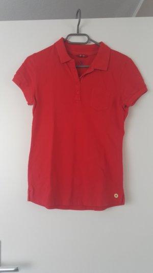 Rotes Polo Shirt von Mustang
