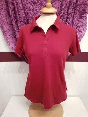 rotes Poloshirt Shirt Kurzarm von Street One Gr. 44