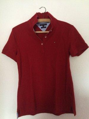rotes Poloshirt von Tommy Hilfiger