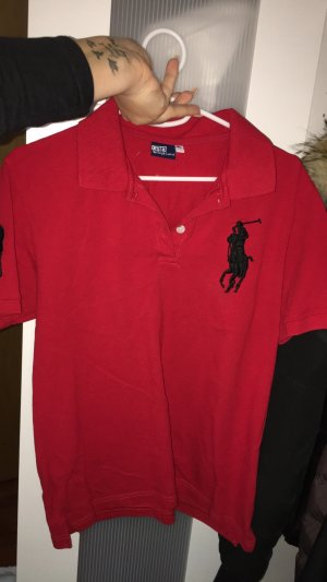 Ralph Lauren Top Polo noir-rouge