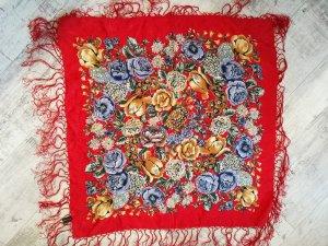 Bufanda de seda rojo