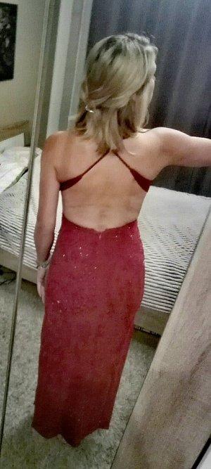 Rotes Rückenfreies Abendkleid