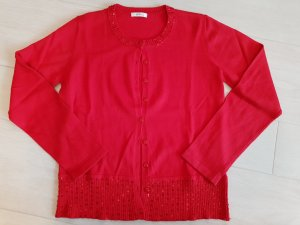1.2.3 Paris Knitted Twin Set brick red silk