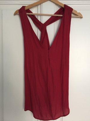 Rotes seidenartiges Top von Zara