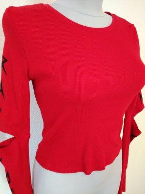 Rotes Shirt aus Baumwolle