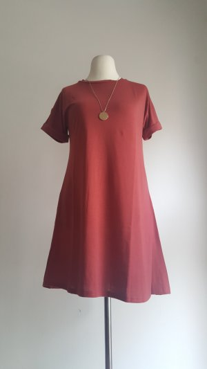Shirt Dress brick red polyester