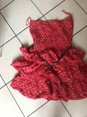 Primark Babydoll-jurk wit-rood
