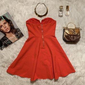 H&M Off the shoulder jurk rood