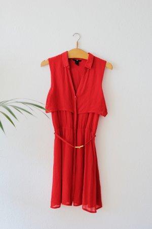 Rotes Sommerkleid, Gr. 36 H&M