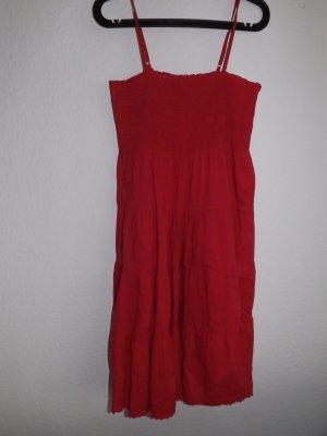 Rotes Sommerkleid, Größe XL
