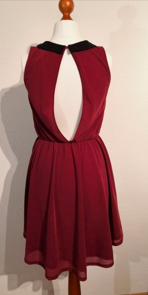 H&M Divided Cut Out Dress carmine