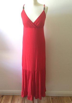 Rotes Sommerkleid mit Spaghettiträgern, Gr. XL