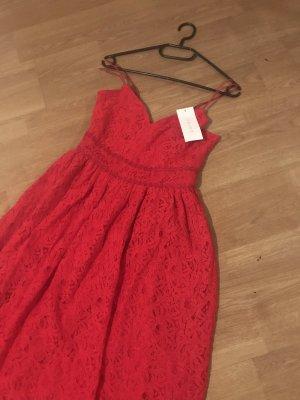 Amisu Vestido a media pierna rojo