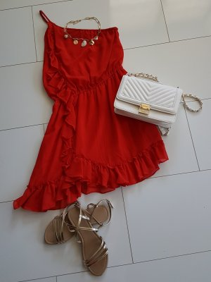 Rotes Sommerkleid#Oneoffshoulder