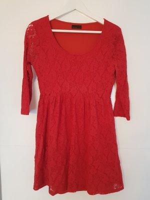 Vero Moda Vestido de encaje rojo Poliéster