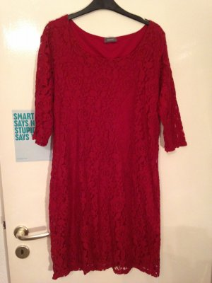 rotes Spitzenkleid, rot, Spitze, Gr. L / 40 / 42/ 44, C&A