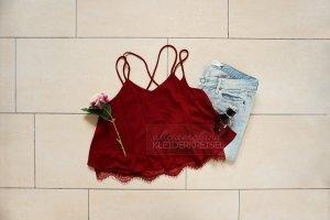 Spaghetti Strap Top bordeaux-dark red