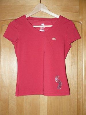 Rotes Sportshirt von Addidas,  Größe 34