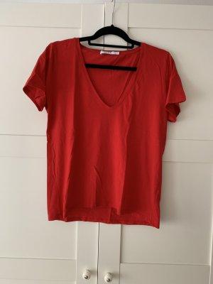 Nakd T-shirt col en V rouge