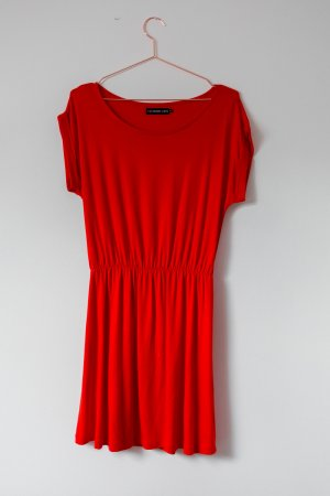 Even & Odd Shirt Dress red cotton