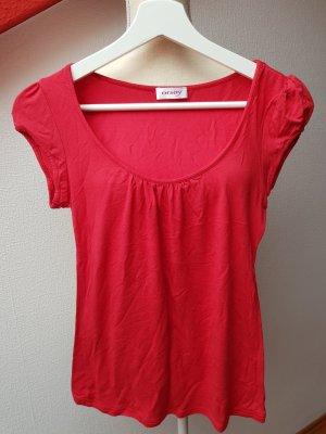 Rotes T-Shirt mit Rundhalsausschnitt; Gr. M