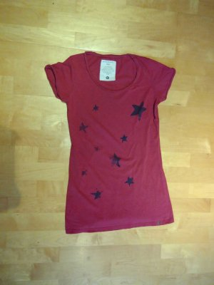 armedangels T-Shirt dark red
