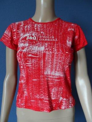 Rotes T-Shirt von Dolce & Gabbana