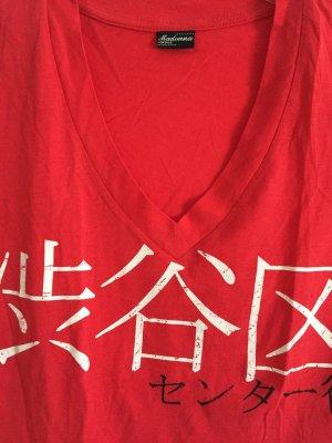 Rotes T-Shirt von Madonna in Größe L