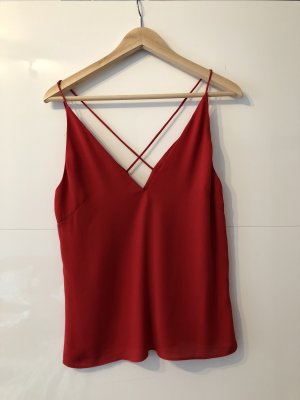 H&M Spaghetti Strap Top dark red