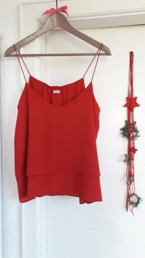 Rotes Top Blogger Party Business chic