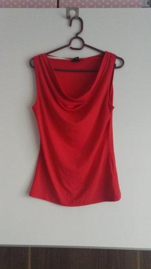 H&M Top collo ad anello rosso