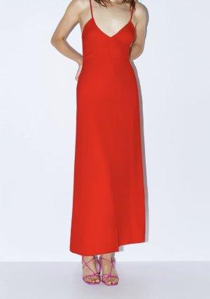 Zara Vestido tipo overol multicolor tejido mezclado