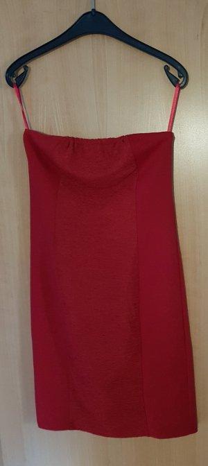 Amisu Off the shoulder jurk rood-donkerrood
