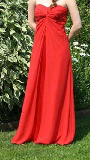 Rotes trägerloses Kleid, Abiball, Hochzeit