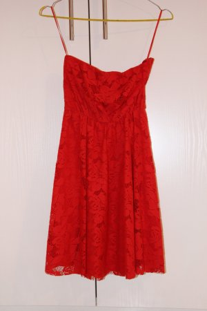 Zara Babydoll Dress red-dark red