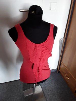 rotes Trägertop - mit Raffung vorne - Vero Moda - Größe S