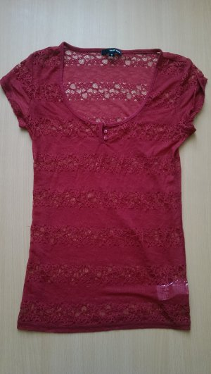 Rotes transparentes Tshirt - Tally Weijl (Endpreis)