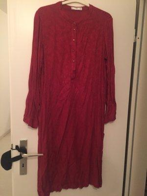 Mango Tunic Dress dark red-carmine