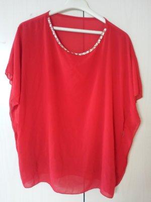 Tunique de plage rouge-rouge fluo
