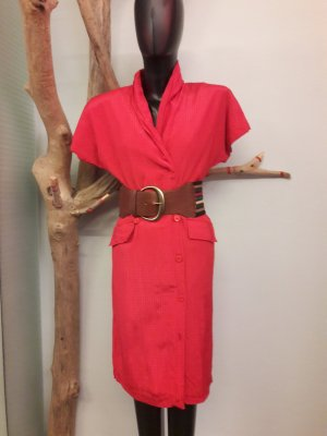 Robe courte rouge-rouge clair